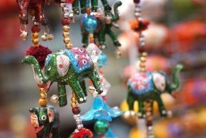 Handcrafted Indian Elephant Door Hanging in Singapore Little India's market