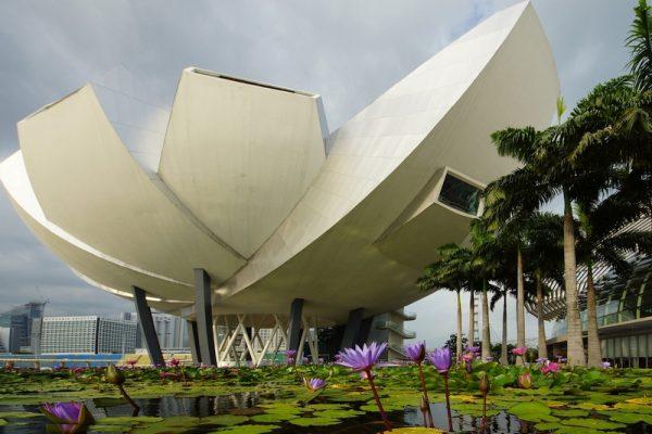 Lotus-Shaped Singapore' s ArtScience Museum at the Marina Bay