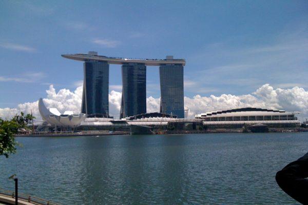 Panoramic view of Singapore's Marina Bay Sands