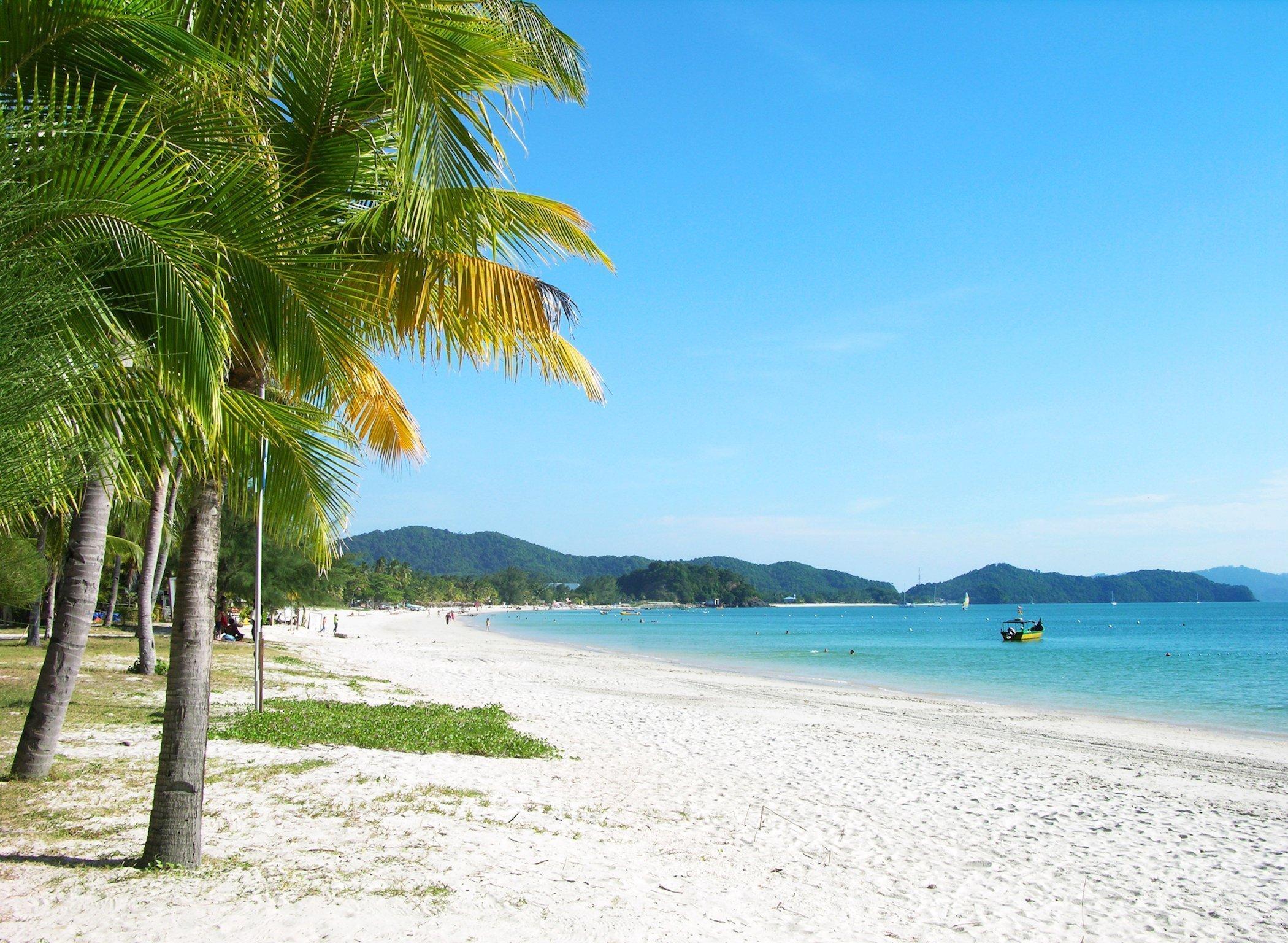 Panoramic view of Langkawi's Cenang beach