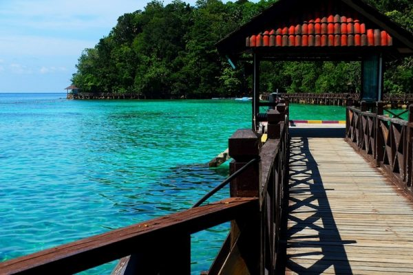 Jetty of Pulau Payar Marine Park in Langkawi