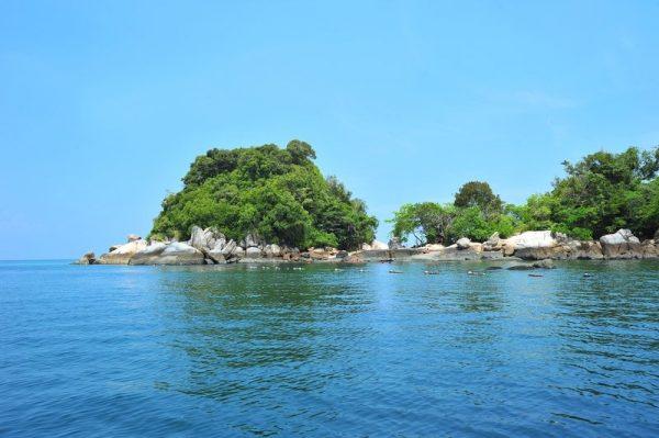 Rocky island Off the Coast of Pangkor Island