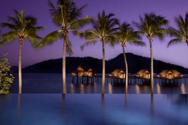 Night Scenery at the Pangkor Laut Resort