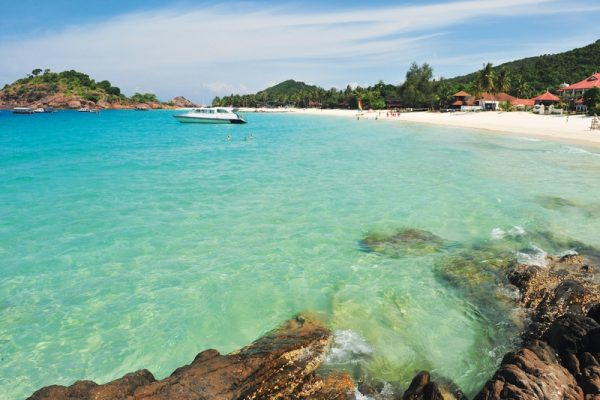 Powdery-white sand and striking turquoise waters in Redang Island