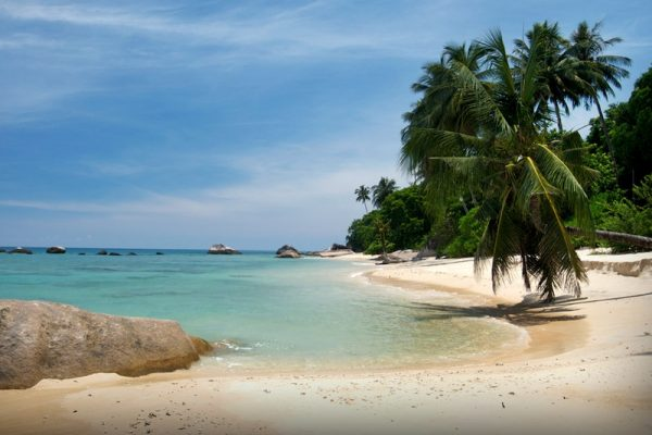 Deserted beach in Tioman Island