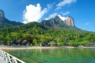 Tioman's Tunamaya Resort nestled between the mountains and the beach