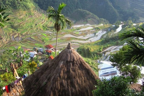 Panoramic view of Banaue's rice Terraces in the Philippines