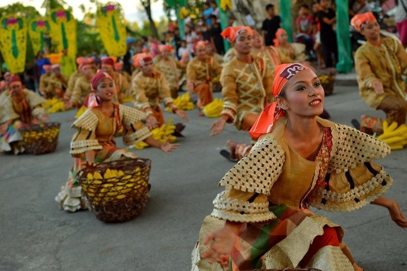 Filipino dancers during a Street Parade in Siquijor Island