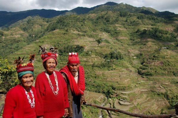 Ifugao People in the rice terrace of Banaue