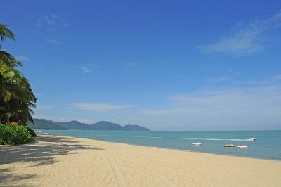 Deserted beach in Penang Batu Ferringhi
