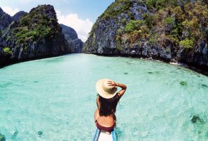 Exploring El Nido's Big Lagoon with private boat