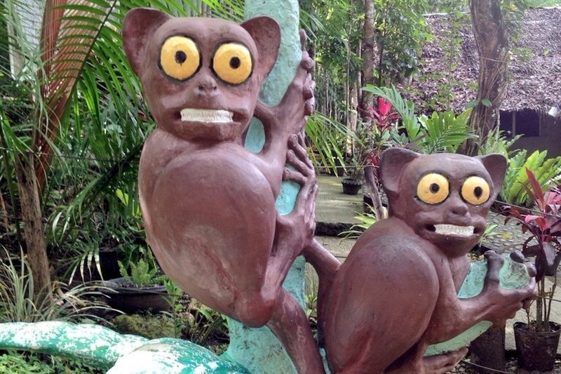 Statue of the Bohol Tarsiers at the Bohol's Tarsier Sanctuary