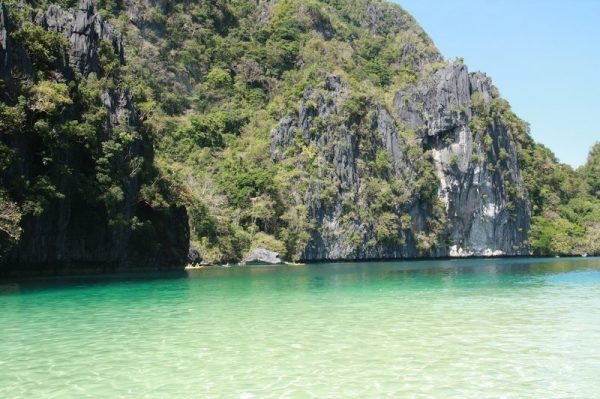 The deep emerald waters of El Nido's Big Lagoon