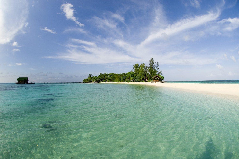 Panoramic view of Lankayan Island