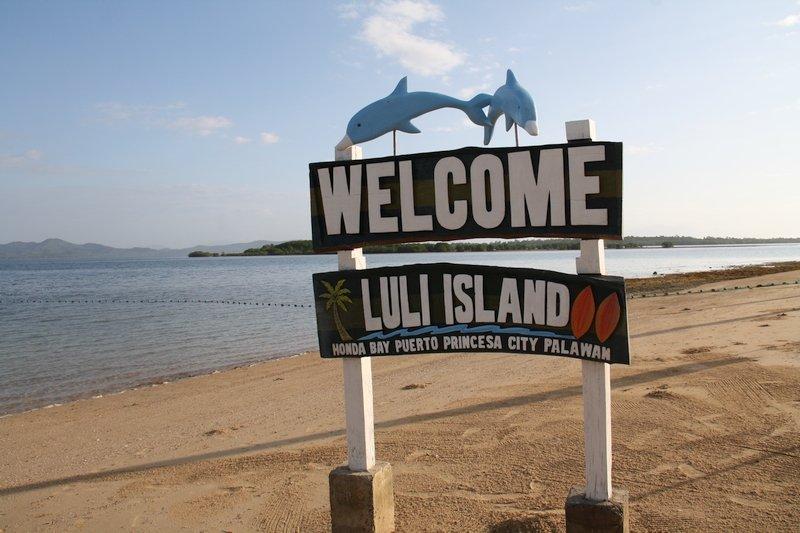 Welcome signage in Honda Bay's Luli Island