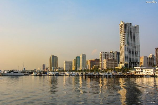 Panoramic view of Manila Bay at Sunset