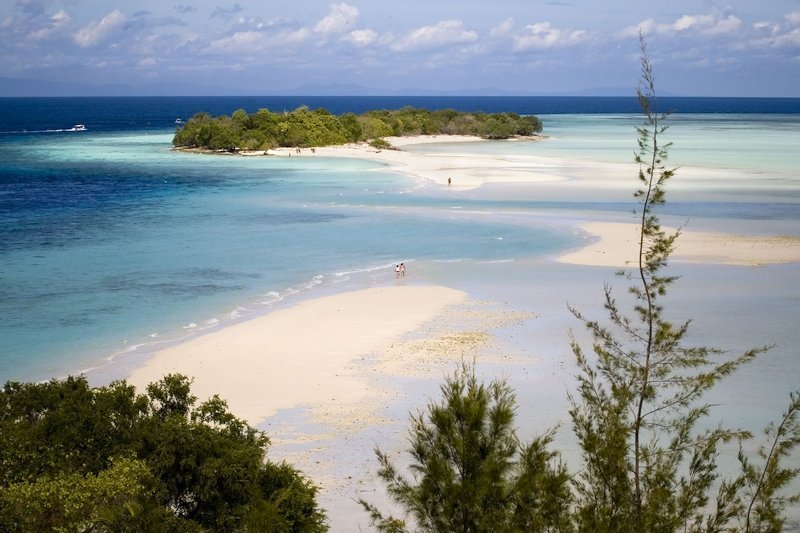 Panoramic view of Mataking Kecil Island from the observation tower of Mataking Island Reef Dive Resort
