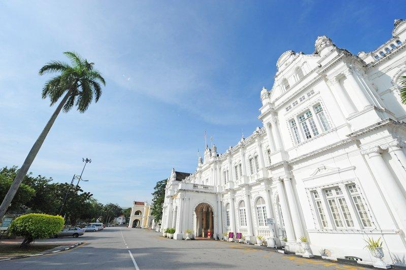 Exterior of Penang City Hall Building