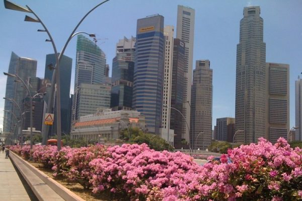 Skyscrapers of Singapore's Financial District