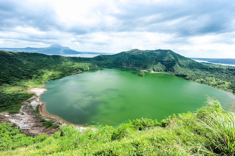 Panoramic view of the Taal Volcano