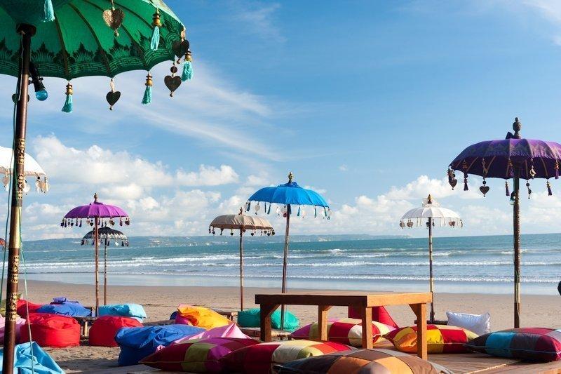 Scenic view of Bali's Kuta Beach