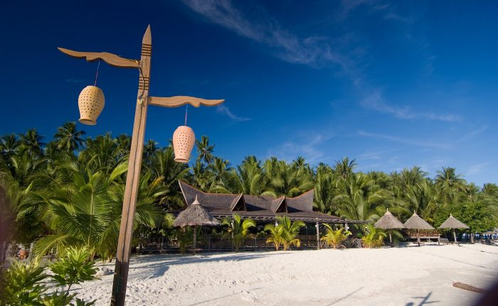 Beach at Mabul Smart Resort, Sabah, Borneo, Malaysia