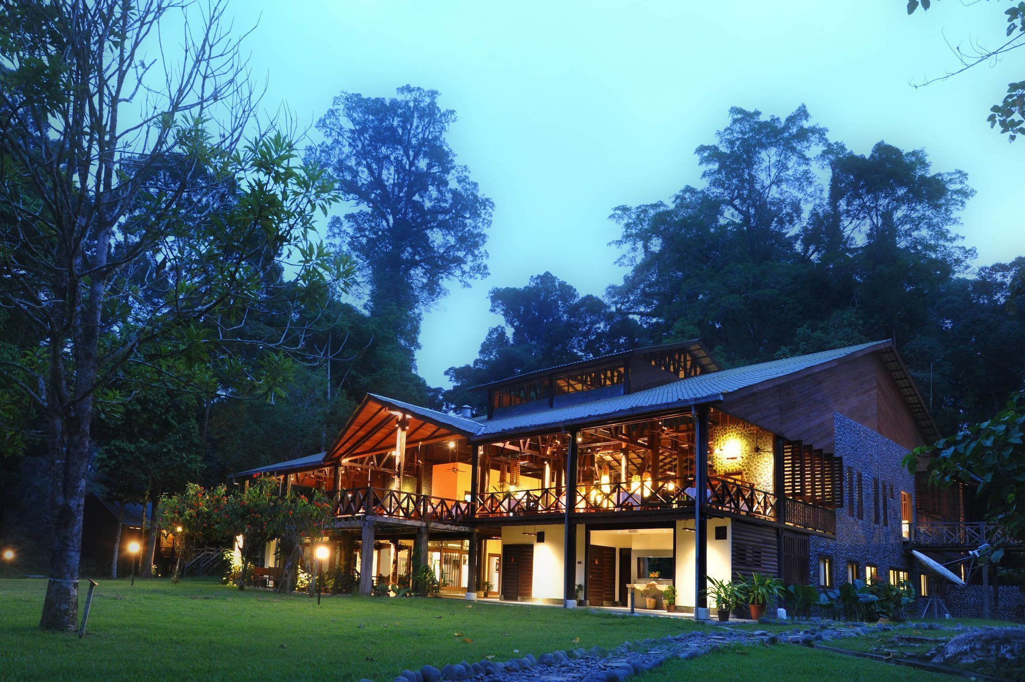 Borneo Rainforest Lodge nestled in Danum Valley's pristine lowland rainforest
