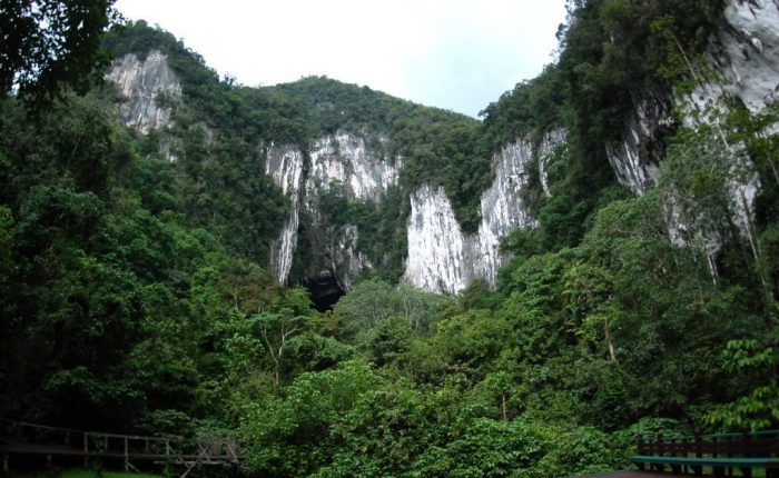 Entrance of the Deer Cave in Mulu National Park