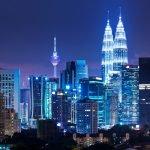 Night scenery of Kuala Lumpur City Centre
