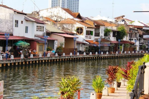 Scenic view of Malacca riverside