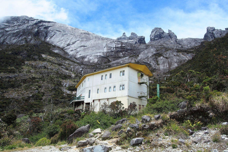 Laban Rata resthouse nestled picturesquely on Mount Kinabalu