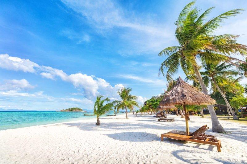 Koh Lipe ThailandTurquoise-blue waters and pristine white-sand beach in Koh Lipe