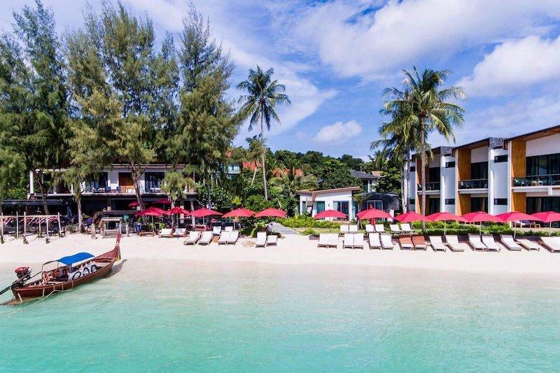 Beach in front of Idyllic Concept Resort in Koh Lipe