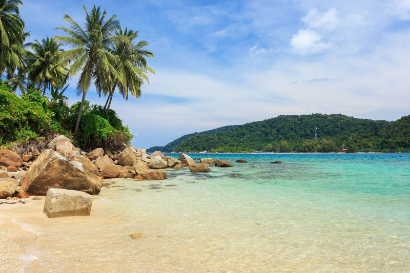 Clear and clam waters in Perhentian Islands