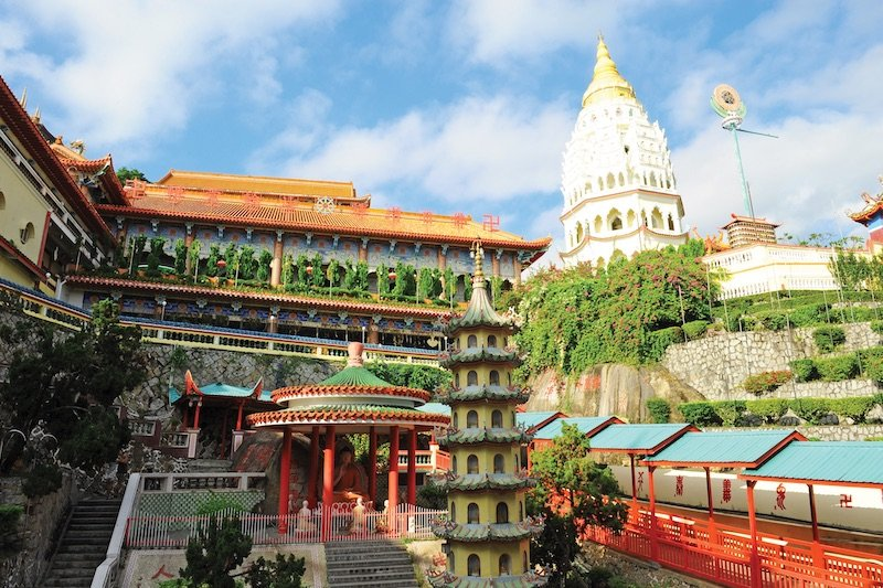 Panoramic view of Penang's Kek Lok Si Temple