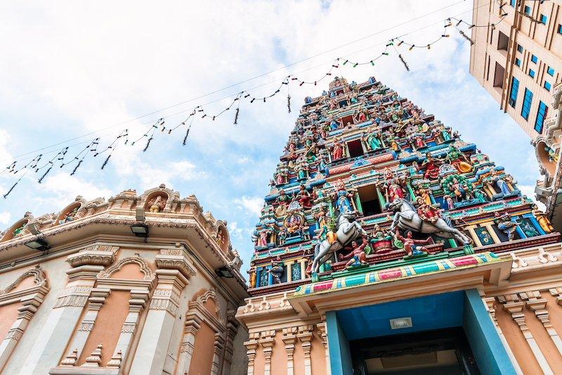 Colorful Sri Mahamariamman Hindu Temple in Kuala Lumpur City Centre