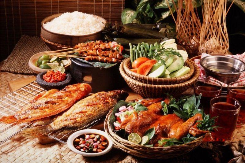 A variety of Malaysian food