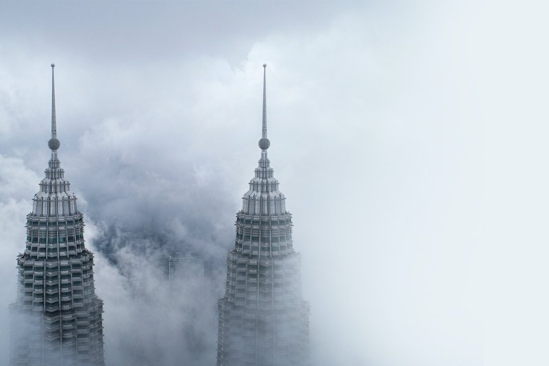 Petronas Twin Towers above the mist