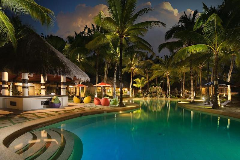 Night scenery of South Palms Resort in Bohol